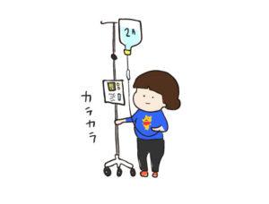 切迫早産入院2日目