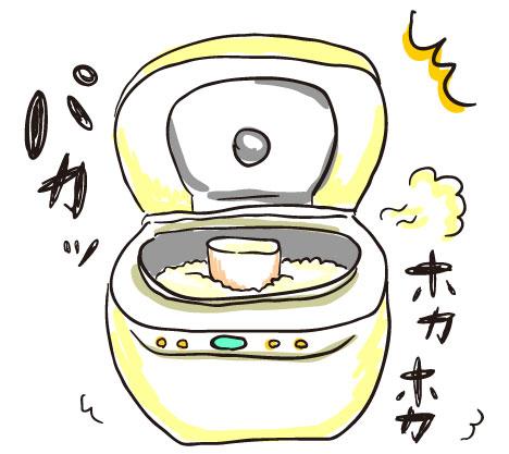 炊飯器でおかゆ作り