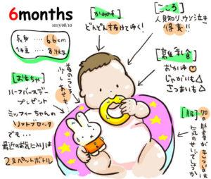 【生後6ヶ月】成長記録