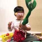 2歳娘、編み込みヘアにハマりそうな予感★