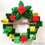 【LEGO】誰でもできる!クリスマスツリーとリースをレゴで作ってみた。