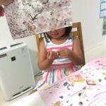 4歳2ヶ月家庭学習教材のポピー4月号レビューvol.5桜吹雪を作る