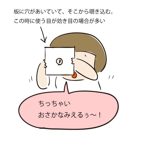 【4歳小児斜視】利き目の検査