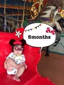次女(ほっぺ)生後5ヶ月成長記録