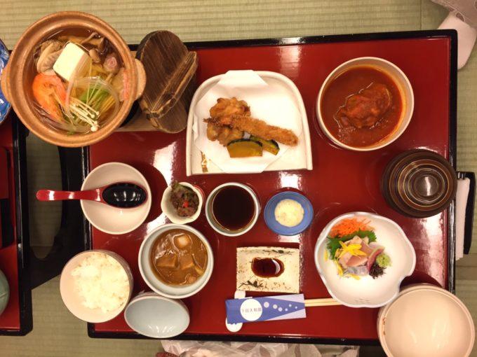 下田大和館2日目夕食(こども)