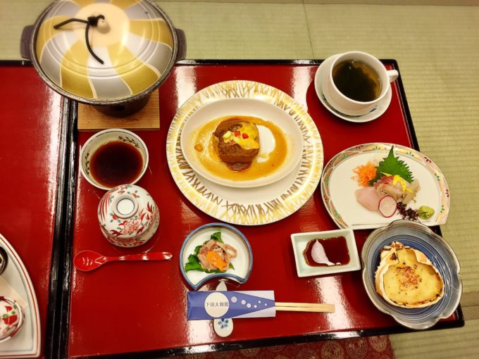 下田大和館1日目夕食(こども)