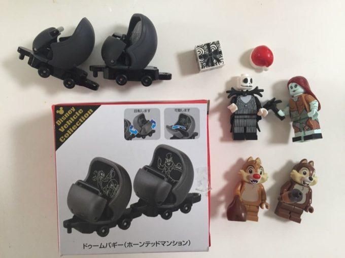 ホーンテッドマンションのトミカは東京ディズニーリゾートで販売中!レゴのミニフィグを乗せる。