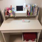 汚部屋写真有要注意!長女の学習机を買ったよー!