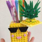 LEGO DOTS(41906)パイナップルのペン立ては可愛い相棒付き